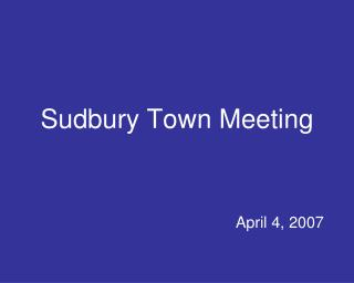 Sudbury Town Meeting