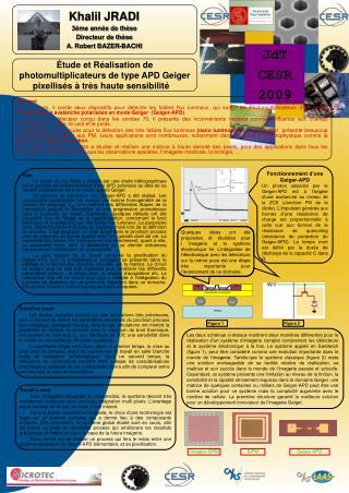 tude et R alisation de photomultiplicateurs de type APD Geiger pixellis s   tr s haute sensibilit