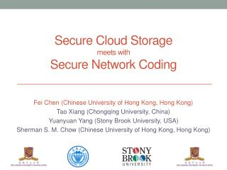 Secure Cloud Storage meets with Secure Network Coding