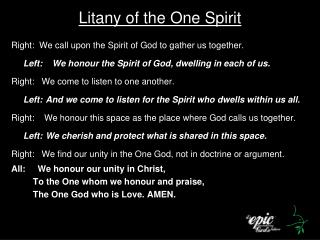 Litany of the One Spirit