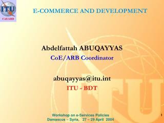 E-COMMERCE AND DEVELOPMENT