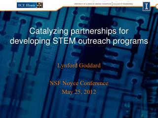 Catalyzing partnerships for developing STEM outreach programs