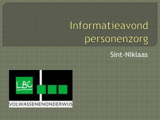 Informatieavond personenzorg