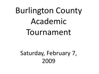 Burlington County Academic Tournament