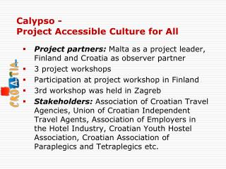 Calypso  -  Project Accessible Culture for All