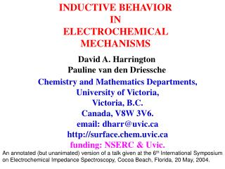 INDUCTIVE BEHAVIOR IN ELECTROCHEMICAL MECHANISMS