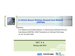 In-Vehicle Secure Wireless Personal Area Network SWPAN