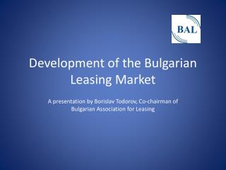 Development of the Bulgarian Leasing Market