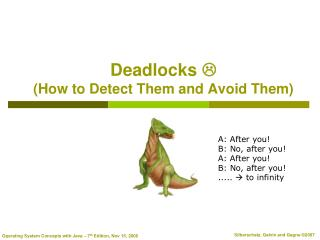 Deadlocks   (How to Detect Them and Avoid Them)