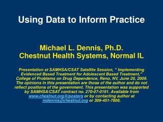 Using Data to Inform Practice