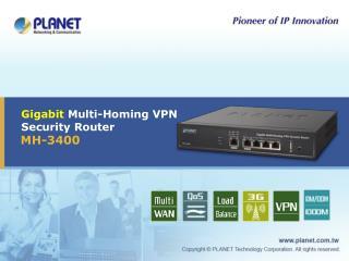 Gigabit  Multi-Homing VPN Security Router