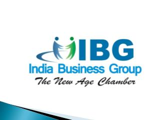 India Business Group (IBG)  Special focus on MSMEs Global participation