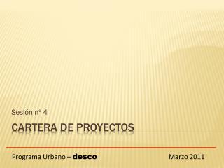 CARTERA de PROYECTOS