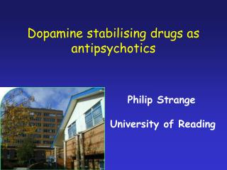 Dopamine stabilising drugs as antipsychotics