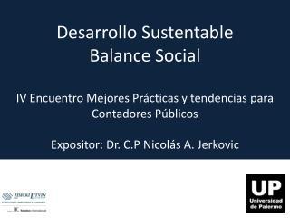 Desarrollo Sustentable Balance Social