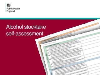 Alcohol stocktake  self-assessment