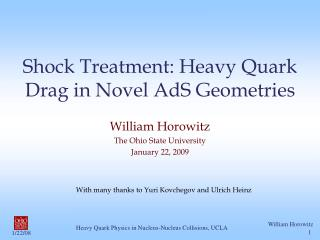 Shock Treatment: Heavy Quark Drag in Novel AdS Geometries