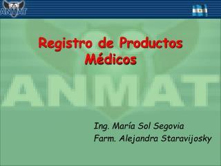 Registro de Productos Médicos