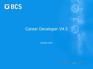 Career Developer V4.3