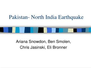 Pakistan- North India Earthquake