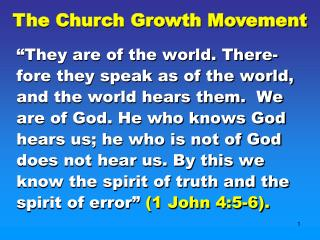 The Church Growth Movement
