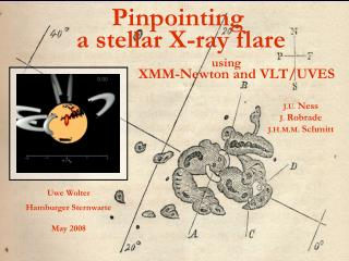 Pinpointing  a stellar X-ray flare                                using    XMM-Newton and VLT/UVES