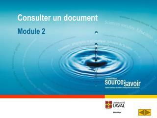Consulter un document