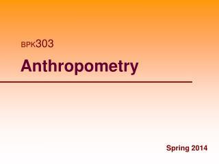 Anthropometry