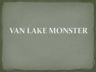 VAN LAKE MONSTER