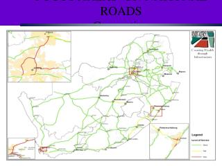 FOCUS AREAS  ON NATIONAL ROADS Congestion
