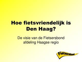 Hoe fietsvriendelijk is Den Haag?