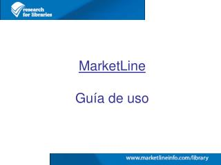 MarketLine Guía de uso