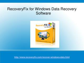 Windows Data Recovery Software to Recover Windows Partition