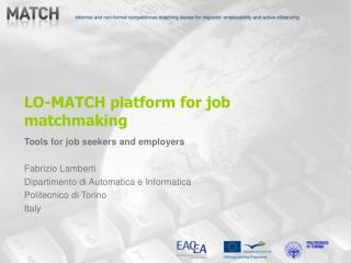 LO-MATCH platform for job matchmaking