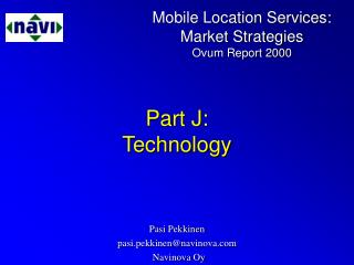 Part J: Technology