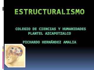 ESTRUCTURALISMO colegio de ciencias y humanidades  plantel azcapotzalco Pichardo Hernández Amalia
