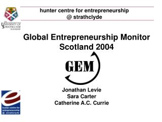 hunter centre for entrepreneurship  @ strathclyde