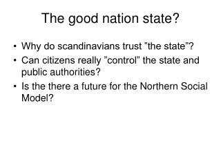 The good nation state?