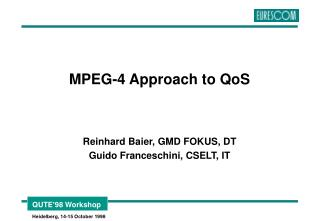 MPEG-4 Approach to QoS