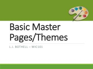 Basic Master Pages/Themes