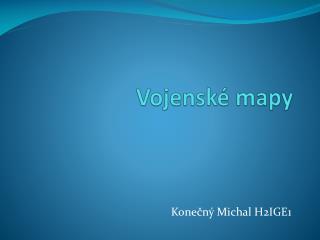Vojenské mapy