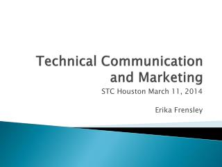 Technical Communication and Marketing