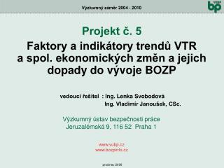 Projekt č. 5
