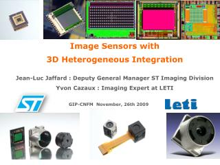 Image Sensors with 3D Heterogeneous Integration