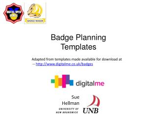 Badge Planning Templates