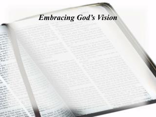 Embracing God's Vision