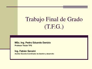 Trabajo Final de Grado (T.F.G.)