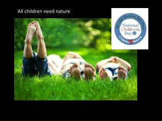 All children need nature