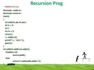 Recursion  Prog