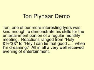 Ton Plynaar Demo